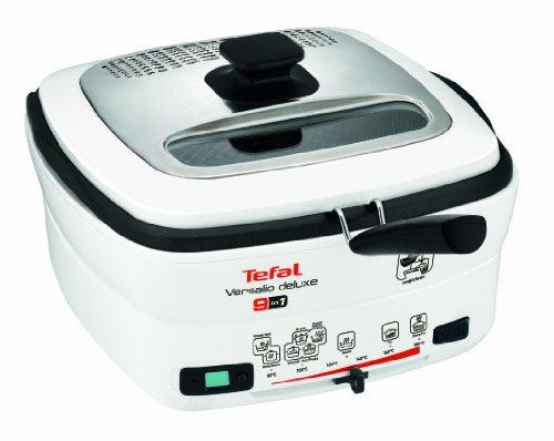 Tefal FR4950 Multi-Funktions-Fritteuse Versalio Deluxe 9-in-1 (1600 Watt, inklusive Pfannenwender), weiß