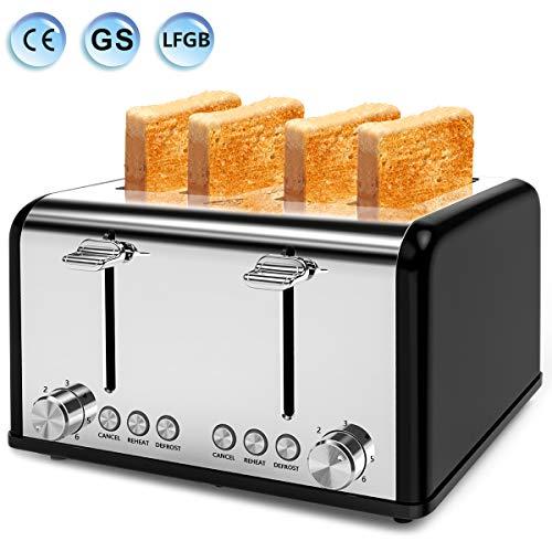 Toaster 4 Scheiben, Morpilot Edelstahl
