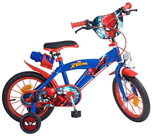 "Toims 874 Spiderman Kinderfahrrad Mixed Bike Toims, 3/5 jahre-14"", blau"