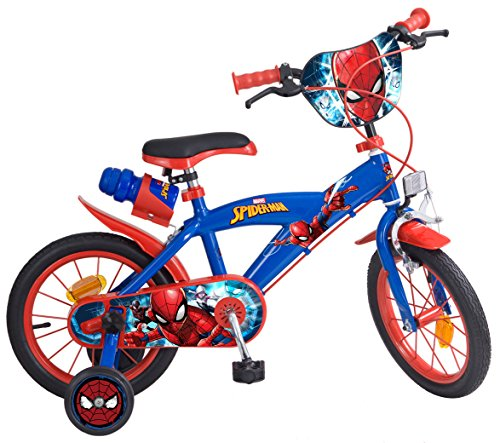 "Toims 874 Spiderman Kinderfahrrad Mixed Bike Toims, 3/5 jahre-14"", blau"