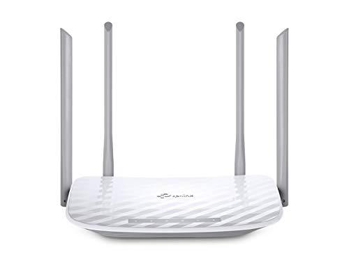 TP-Link Archer C50 Dualband WLAN Router (300 Mbit/s (2,4GHz + 867Mbit/s (5GHz), 1200Mbps, Print/Media/FTP Server, App Steuerung, für Anschluss an Kabel-/DSL-/Glasfaser-Modem, Gast-Netzwerk) weiß