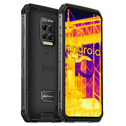Ulefone Armor 9 Outdoor Smartphone mit FLIR-Wärmebildkamera - 6.3 Zoll FHD+ Display 64MP Kamera 128GB ROM+8GB RAM Helio P90 6600mAh Bluetooth 5.0 NFC IP68 Wasserdicht Handy Ohne Vertrag