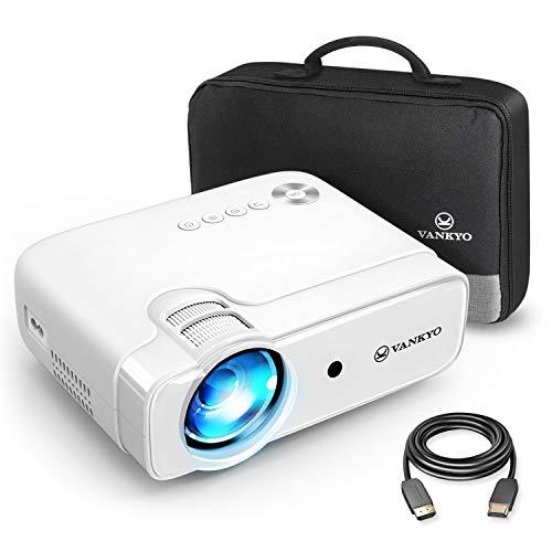 VANKYO Leisure 430 Mini Beamer, 5000 Lumen Heimkino Beamer, Support 1080P Full HD mit 60000 Stunden LED, kompatibel mit TV Stick, HDMI, SD, AV, VGA, USB, PS4, X-Box, iOS/Android Smartphone Projektor