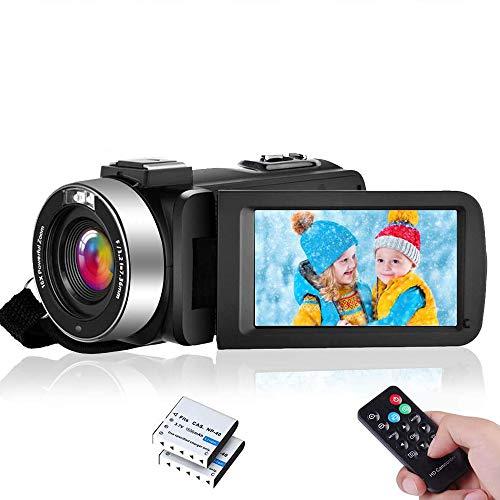 Videokamera Camcorder Full HD 1080P 30FPS IR Nachtsicht Camcorder 24MP 3,0 Zoll IPS-Bildschirm 16-facher Digitalzoom Digitalkamera mit Fernbedienung