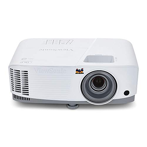 Viewsonic PA503W 3D Heimkino DLP Beamer (WXGA, 3.600 ANSI Lumen, HDMI, 2 Watt Lautsprecher, 1.1x optischer Zoom) weiß-grau