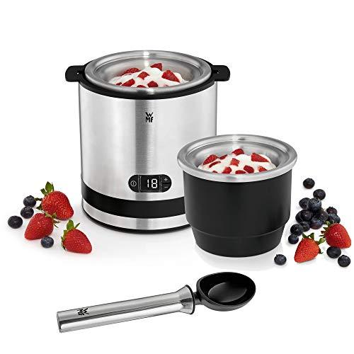 WMF Küchenminis 3in1 Eismaschine, Ice Maker für Frozen Joghurt, Sorbet und Eiscreme, Gefrierbehälter 300 ml, 30-Minuten-Time, Frozen Joghurtmaschine